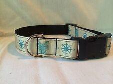 "Octopus Nautical Ribbon Dog Collar, 1""Adjustable Ribbon Dog collar Compass"
