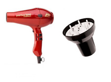 Parlux 3200 Red Compact Ceramic  Hair Dryer and Hair Tools Universal Diffuser