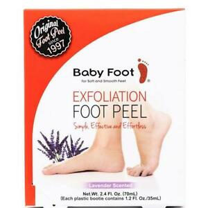 BABY FOOT Original Exfoliation Foot Peel LAVENDER Scent for Soft Feet EXP 3/2024
