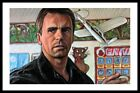 Jack O'Neill portrait Stargate SG1 Double ACEO Art Sketch Card Drawing