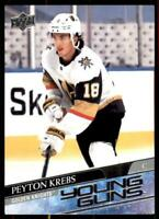 2020-21 UD Series 1 Base Young Guns #239 Peyton Krebs RC - Vegas Golden Knights