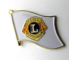 LIONS CLUB INTERNATIONAL FLAG LAPEL PIN BADGE 1 INCH