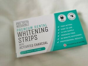 Teeth Whitening Strips with Activated Charcoal - Peroxide Free