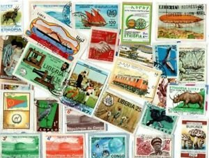 A LOVELY MIX OF ALL DIFFERENT KILOWARE STAMPS FROM AFRICA NO EX GB OR FRENCH