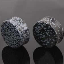 Flesh Tunnels Ear Plug Gauge 6mm-16m Organic Opal Stone 3 Colors Round Shape