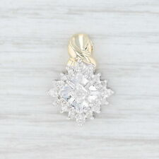 .21ctw Diamond Cluster Pendant - 10k Yellow & White Gold Drop