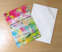 A4 Self Adhesive Gloss Photo Paper Sticky Sheets Inkjet Printers Packaging Label