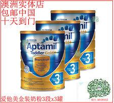 APTAMIL GOLD BABY FORMULA STEP 3  x 3 cans  爱他美婴儿奶粉三段x三罐 包邮中国