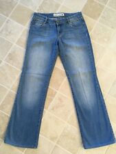 JUST JEANS, WOMENS, PALE LIGHT BLUE, STRAIGHT WIDE LEG, LOOSE FIT, SIZE 9, #1025