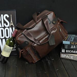 "Men's Leather Briefcase Attache 16*5*12"" Laptop Portfolio Tote Brown Bag"