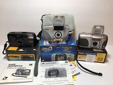Lot Of 3 Kodak Advantix 4100ix Zoom, Aps AdvantiX Preview, 4900ix Film Cameras