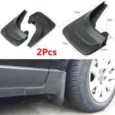 2Pcs ABS Plastic Car Front+Rear Fender Mud Flaps Mudguards Splash Guards Black