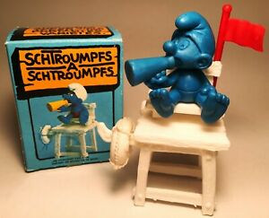 Lifeguard Super Smurf Unpainted PVC Figure Schleich Peyo Schlumpf Schtroumpf