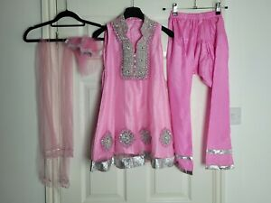 Girls Anarkali Salwar Kameez Kurta Pakistani Asian Indian Outfit Age 7 to 8