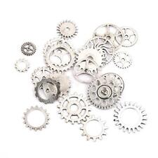 20 Mixed Silver Steampunk Cogs Gears Clock Hand Charm Pendant DIY Craft Jewelry