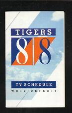 Detroit Tigers--1988 Pocket Schedule--WDIV/Kroger