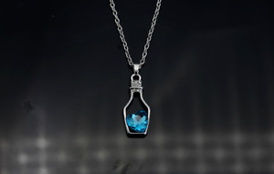new beautiful Wishing bottle love clavicle chain necklace gift blue@