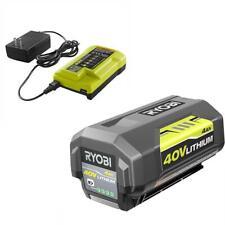 Genuine Ryobi 40V 4.0 4Ah Battery and Charger w/ USB Kit