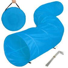 XXL tunnel agility pour les chiens 500x60cm de entraînement jeu pliable bleu