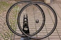 "1980's ROVAL Black Clincher 28"" 700C Laufräder ISO Thread Vintage 16/18 622x13"