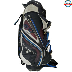 MAXFLI U/SERIES 5.0 Golf Stand Bag 14 Way Blue Black White Color with Rain Cover
