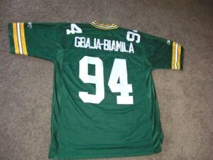 Green Bay Packers KABEER GBAJA-BIAMILA fully sewn Football Jersey mens XL Reebok