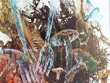 Framed Original Acrylic painting 'La Chasse aux Champignon' by J Biron