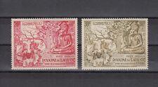 TIMBRE STAMP  2  LAOS  Y&T#20-21 PA TEMPLE BOUDDHA NEUF**/MNH-MINT 1956 ~B70