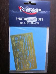 1/400 MIRAGE HOBBY 009 40010 PHOTO DECOUPE U BOOT VIIB  NEUF SACHET