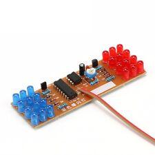 1PCS Red Blue Double Color Flashing Lights Kit Strobe NE555 + CD4017 NEW