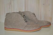 Damen-Stiefeletten/Boots/Halbschuhe-TOMS`-Nubukleder/Echtleder-Beige-Gr.39/US8,5