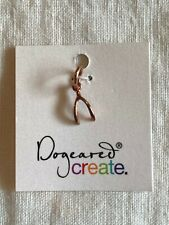 Dogeared Rose Gold Dipped Wishbone Charm. Made in USA