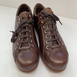 Camper Mens Pelotas Ariel 17408-086 Mens Brown Leather Shoes Trainers Size UK12