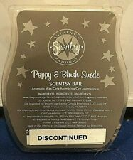 Scentsy 3.2 oz Wax Bars Poppy & Blush Suede Retired