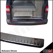 VW T5 Chrom Ladekantenschutz aus Schwarz V2A Edelstahl mit Abkantung