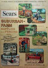 Sears 1966 Suburban Farm Garden Tractor FULL COLOR Sales Brochure Catalog 164pg