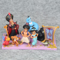 Disney Aladdin 8 pcs Dolls Set BANPRESTO Mega Aladdin Genie Jasmine Kid Toy Gift