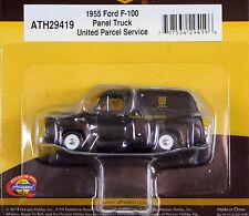 Athearn 1/87 HO 1955 Ford F-100 Panel Truck UPS PLASTIC SCALE REPLICA 29419