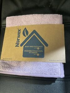 Norwex Body And Face Cloth Pack New teal Vanilla lavender 3 pack baclock