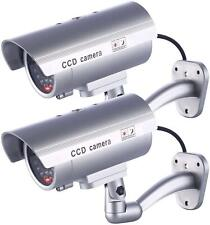 2 SecurityCamera Dummy-Fake Indoor Outdoor CCTV Dummy 30 Security Safe LED Light