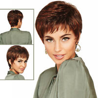 Short Curly Wavy Brown Cosplay Daily Wig Wigs Hair Fashion Women Natural Looking