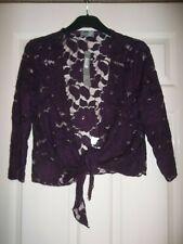 Per Una Purple lace short cardigan ~ Size 14