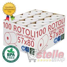 Confezione 48 Rotoli Termici mm 57x100 mt Per Distributore di Carburante Self Service Carta Termica 1^ Qualit/à