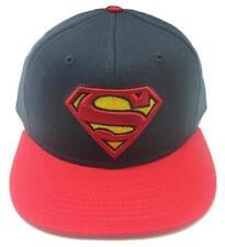 OFFICIAL LICENSED - SUPERMAN - CONTRAST LOGO BASEBALL CAP SNAPBACK KRYPTON