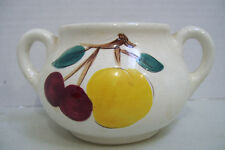 Antique Collectible Stangl Pottery Sugar Bowl With Fruit No Lid
