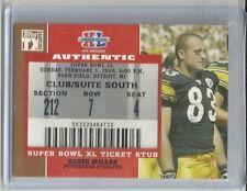 2007 TOPPS TX #SB-HM HEATH MILLER Steelers Seahawks Super Bowl XL Ticket Stub