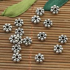 75 pcs dark silver daisy spacer beads h5012