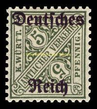 EBS Germany 1920 Official 5 Pf Württemberg overprint Michel Dienst 57 MNH**
