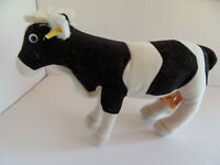 Steiff cow with  button flag stuffed animal made in Germany 2783
