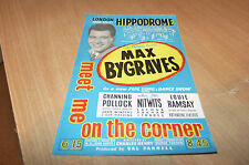 MAX BYGRAVES - MEET ME ON THE CORNER - LIVE LONDON HIPPODROME - 1970's